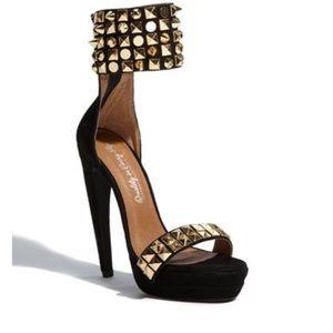 Jeffrey Campbell Kylie Studded Heels Black/Gold